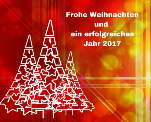 Frohe Weihnachten und ein erfolgreiches Jahr 2017