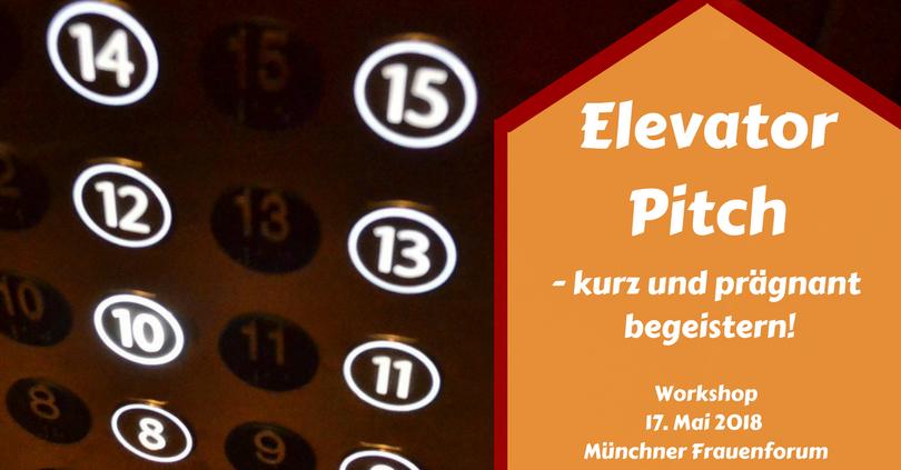 Elevator Pitch - Workshop